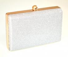 POCHETTE ARGENTO ORO borsello donna brillantini borsa clutch elegante cerimonia E55