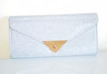 POCHETTE BORSELLO donna ARGENTO clutch bag brillantini borsa elegante cerimonia Z16