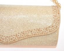 POCHETTE ORO donna borsello brillantinata borsa strass elegante cerimonia E105