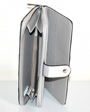 PORTAFOGLIO ARGENTO NERO borsello donna zip oro pochette portamonete borsa A4