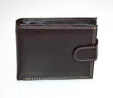 PORTAFOGLIO MARRONE VERA PELLE uomo portamonete bifold wallet regalo portfölj G1