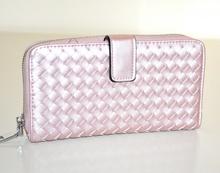 PORTAFOGLIO ROSA donna borsello doppio pochette ecopelle portamonete borsa G25