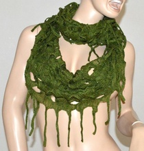 SCIARPA donna VERDE scialle scaldacollo lana bufanda écharpe шарф scarf Schal 10