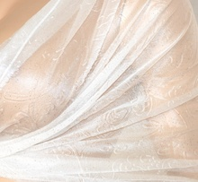 STOLA BIANCA donna SPOSA elegante MAXI FOULARD da cerimonia coprispalle velato seta MATRIMONIO 35X