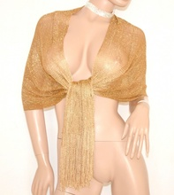 STOLA donna ORO elegante MAXI foulard abito da sera COPRISPALLE da cerimonia 1020