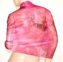 STOLA FUCSIA coprispalle donna elegante maxi foulard scialle velato cerimonia brillantini A2