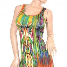 ... VESTITO LUNGO cerimonia MAXI abito multicolore fantasia da sera  scollatura elegante incrocio SEXY schiena nuda 105C. prev. next. prev a05c7f4cd4b
