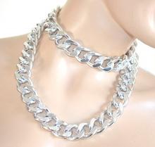 COLLANA LUNGA-CINTURA catena ARGENTO donna ragazza anelli collier bigiotteria idea regalo A16