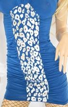 ABITO donna vestito tubino blu argento elegante sexy mini dress miniabito kleid vestido V09