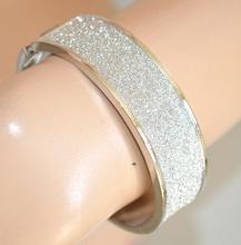 BRACCIALE donna argento strass RIGIDO elegante cerimonia brillantini cristalli bracelet 390A