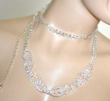 CINTURA argento donna gioiello metallo strass cristalli anelli cerimonia BB25