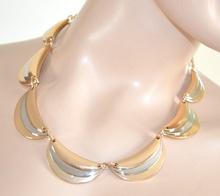 COLLANA donna ORO girocollo argento da cerimonia ELEGANTE collier ожерелье 640