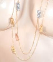 COLLANA LUNGA donna elegante ORO ARGENTO ORO ROSA fili catena dorata collier F25
