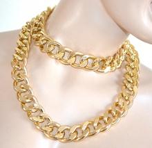 COLLANA LUNGA oro dorata catena donna ragazza anelli collier bigiotteria idea regalo A16