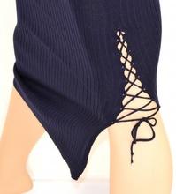GONNA BLU LUNGA donna elegante stretch elasticizzata laccetti SEXY long skirt falda 15
