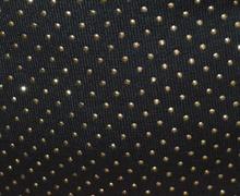 MAGLIETTA NERA donna MAGLIONE chiodini oro manica lunga pullover maglia elegante A31