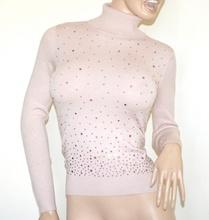 MAGLIONE COLLO ALTO ROSA donna maglietta dolcevita maglia sottogiacca manica lunga A39