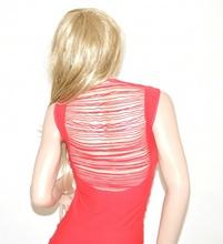 MINI ABITO ROSA CORALLO donna vestito sexy aderente elasticizzato microfibra 55