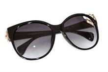 OCCHIALI da sole donna nere oro  lenti ovali sunglasses темные F35