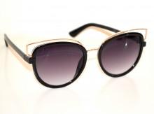 OCCHIALI da SOLE donna neri oro dorati lenti ovali sunglasses zonnebril G15