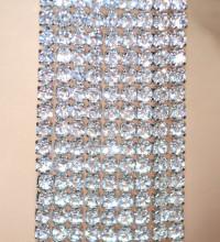 ORECCHINI ARGENTO donna STRASS fili lunghi pendenti cristalli eleganti silver earrings D2