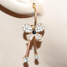 ORECCHINI donna oro dorato pendenti strass cristalli gocce ragazza brincos G19