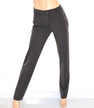 Pantalone donna GRIGIO classico gamba dritta taglio sartoriale брюки spodnie 25