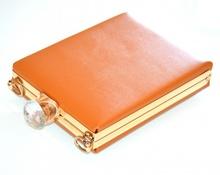 POCHETTE BEIGE CAMEL ORO borsello borsa donna elegante borsetta cristallo clutch F10