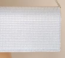 POCHETTE BORSELLO donna borsa ARGENTO elegante per CERIMONIA borsetta da sera clutch 730A