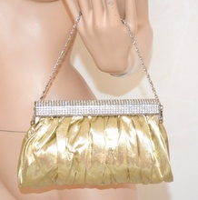 POCHETTE donna borsello ORO borsa da cerimonia ELEGANTE borsetta clutch bolsa 960