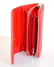 PORTAFOGLIO donna ROSSO borsello zip argento pochette portamonete borsa A6