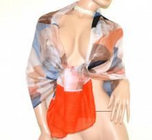Scialle stola donna rossa beige rosa cipria corallo blu maxi sciarpa foulard coprispalle viscosa Schal D20