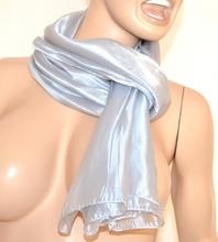 SCIARPA donna maxi foulard ARGENTO PLATINO sciarpetta pashmina tinta unita metallizzata scarf 15