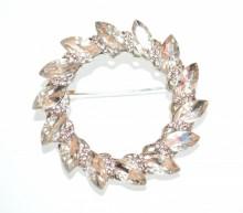 SPILLA donna argento cristalli gocce cerchi strass sposa fermaglio elegante CC14