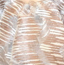 STOLA BEIGE TORTORA BIANCA maxi foulard 20%SETA donna coprispalle scialle velato trasparente sciarpa G60