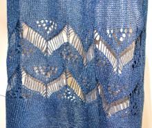 STOLA BLU donna filo traforato lurex scialle coprispalle foulard cerimonia blauer Schal G58