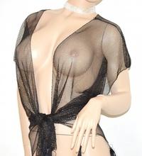 STOLA donna COPRISPALLE NERO sexy scialle brillantinato ELEGANTE da cerimonia festa 85X