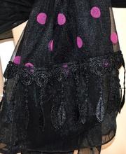 STOLA donna NERA foulard POIS da cerimonia MAXI coprispalle velato ELEGANTE da sera 45X