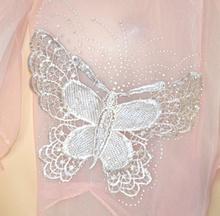 STOLA donna ROSA CIPRIA foulard coprispalle elegante strass sciarpa velata x abito 5X