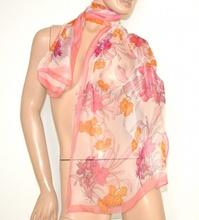 STOLA donna VELATA coprispalle FOULARD seta ROSA CIPRIA x abito elegante da cerimonia scarf 160