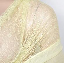 STOLA GIALLA coprispalle donna elegante ricamata maxi foulard damigella scialle da cerimonia party E30