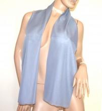 STOLA GRIGIO foulard 40% seta donna coprispalle velato sciarpa grauer Frau Schal G50