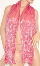 Stola maxi coprispalle foulard cerimonia donna elegante x abito da sera seta metallizzato tinta unita rosa 115H