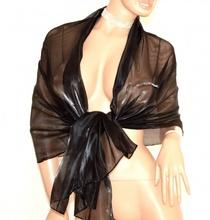 STOLA NERA coprispalle foulard donna elegante abito da sera abito cerimonia 1X