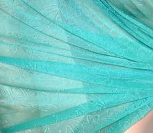 STOLA VERDE SMERALDO coprispalle donna foulard  scialle seta velato elegante  A24