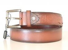 CINTURA MARRONE uomo 30% PELLE fibbia metallo belt пояса bälte NX6