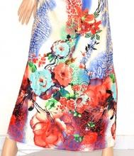 ... ABITO LUNGO donna vestito elegante fantasia BIANCO BLU ROSSO bandeau da  cerimonia E125. prev. next. prev af13ead4889