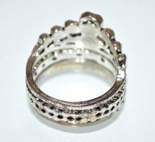 ANELLO argento donna tris 3 fedine tibetane veretta strass cristalli regalo A37