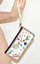 BORSELLO POCHETTE CRISTALLO donna CERIMONIA portafoglio mini clutch bag bolsa strass vernice cocco nero\bianco borsetta chic 107