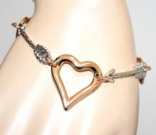 BRACCIALE ciondoli cuori donna argento oro dorato lucido regalo s valentino GP24